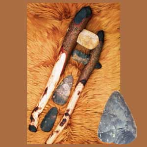 Neolithic hafted axes, axe-heads and handaxe