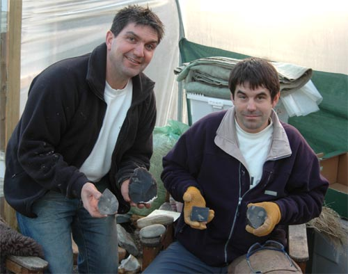Two to one architectural flintknapping workshop