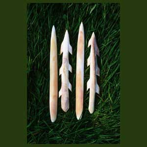 Antler harpoon points & red deer bone points