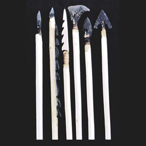 Assortment of arrows - Mesolithic to Bronze-Age
